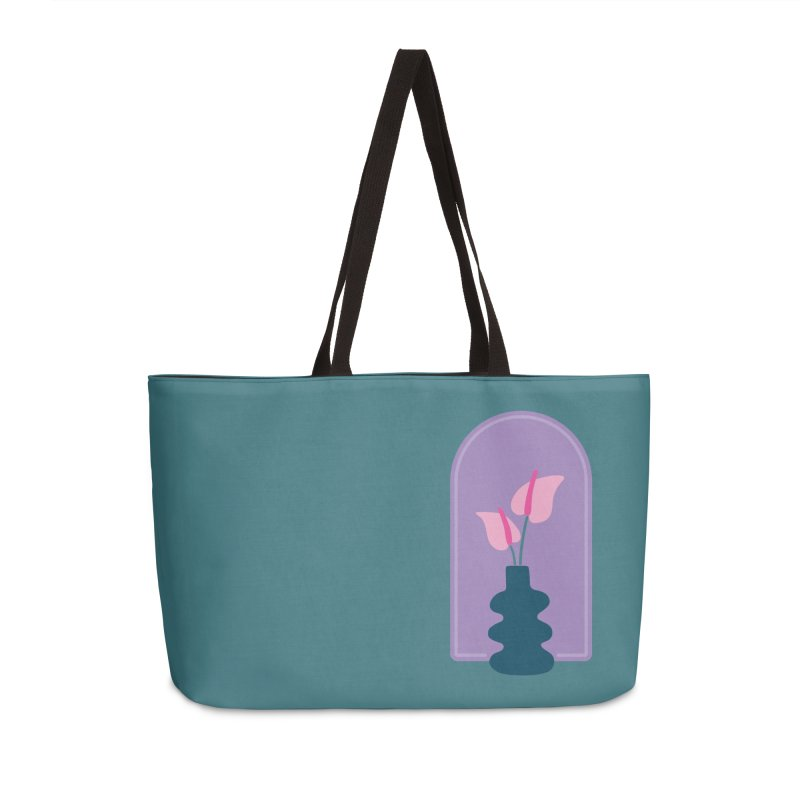 Wiggle Vase Anthurium Accessories Bag by Peach Things Artist Shop