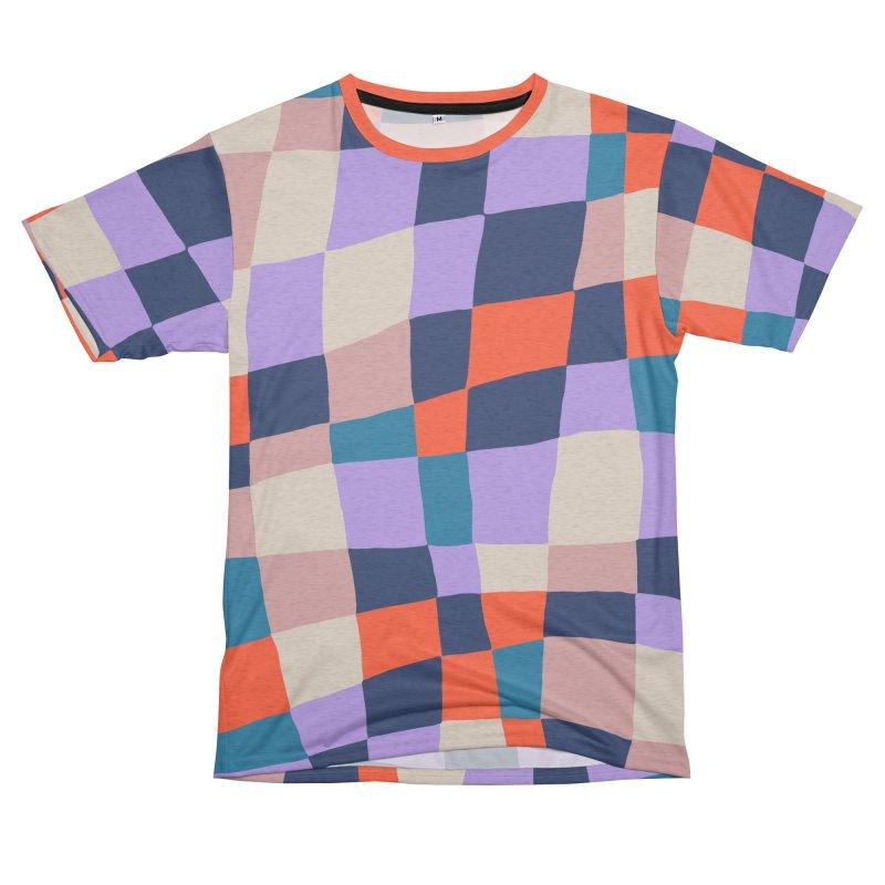 Warped Checkerboard Orange/Blush/Navy Women's Cut & Sew by Peach Things Artist Shop
