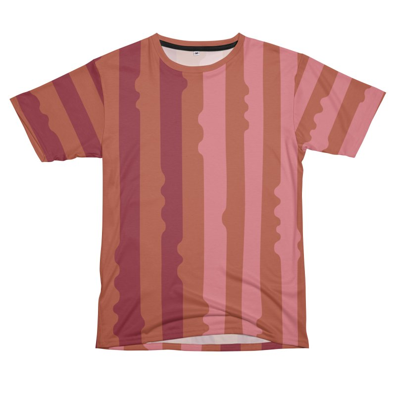 Bumpy Stripe- Rust Men's Cut & Sew by PeachPrintStudio's Artist Shop