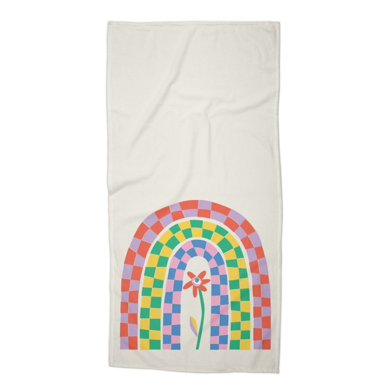 Late Bloomer Accessories Beach Towel by Peach Things Artist Shop