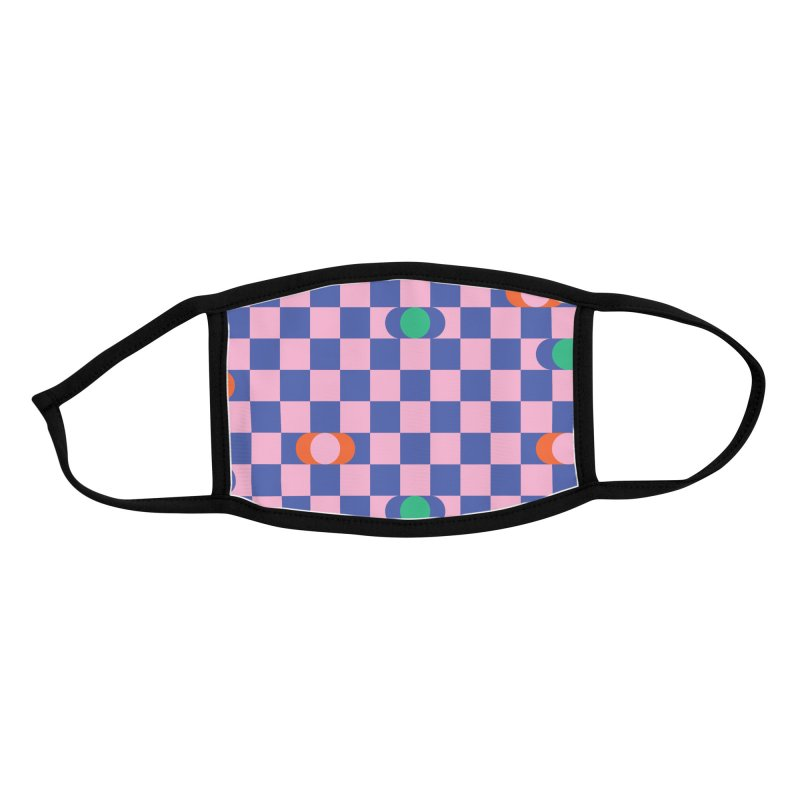 Eclipse Checkerboard Accessories Face Mask by Peach Things Artist Shop