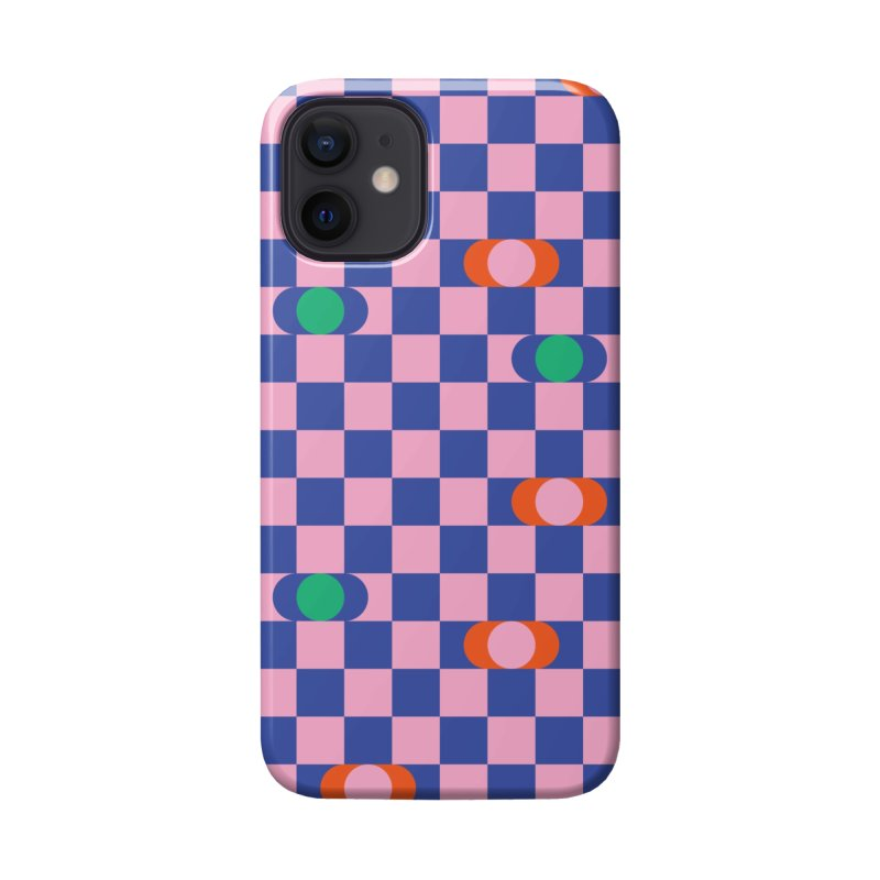 Eclipse Checkerboard Accessories Phone Case by Peach Things Artist Shop