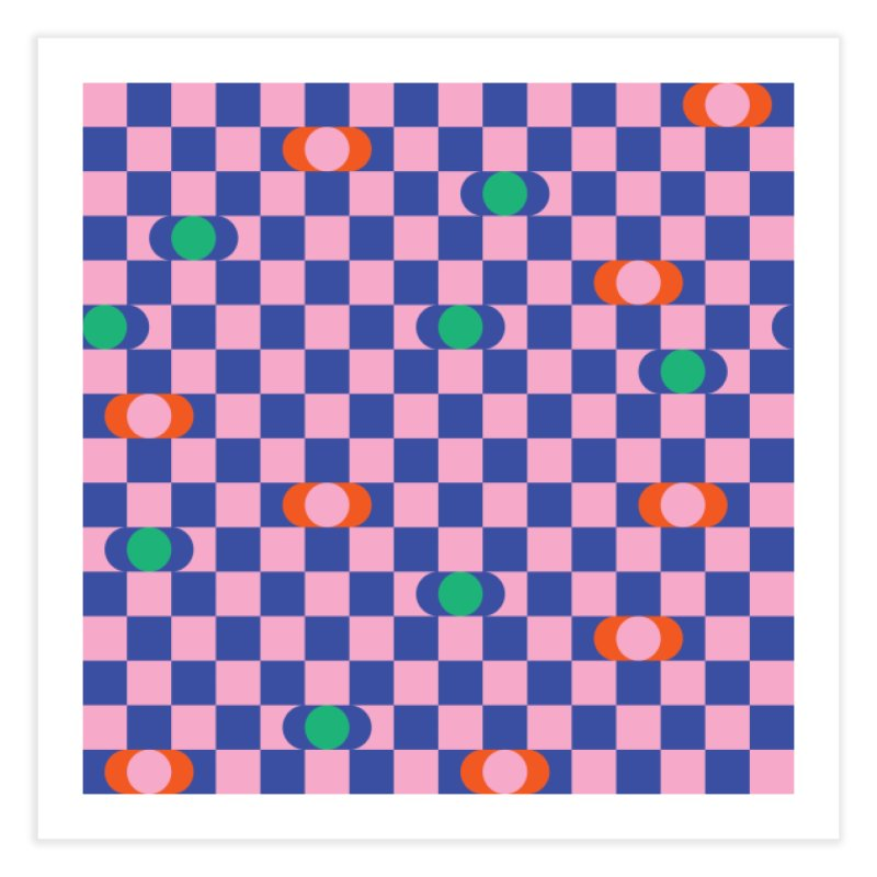 Eclipse Checkerboard Home Fine Art Print by Peach Things Artist Shop