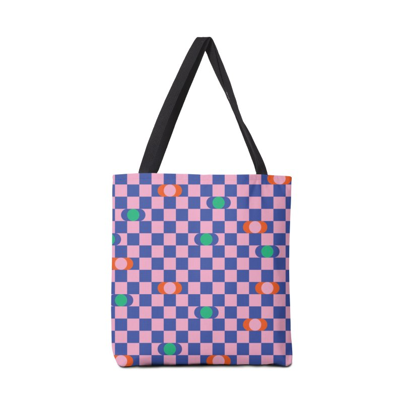 Eclipse Checkerboard Accessories Bag by Peach Things Artist Shop