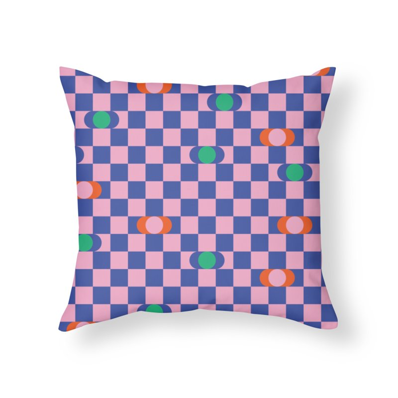 Eclipse Checkerboard Home Throw Pillow by Peach Things Artist Shop