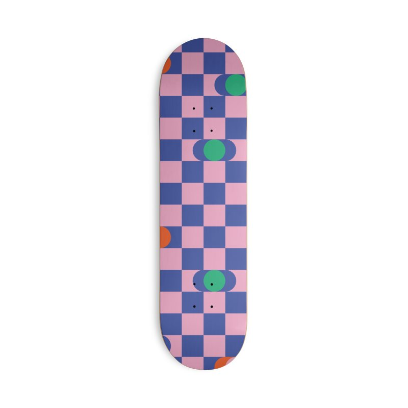 Eclipse Checkerboard Accessories Skateboard by Peach Things Artist Shop