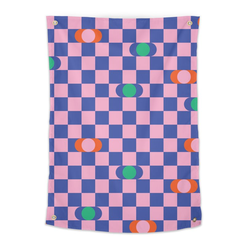 Eclipse Checkerboard Home Tapestry by Peach Things Artist Shop