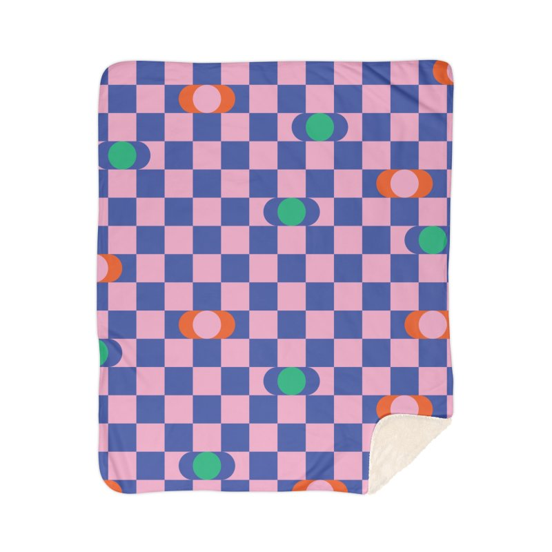 Eclipse Checkerboard Home Blanket by Peach Things Artist Shop