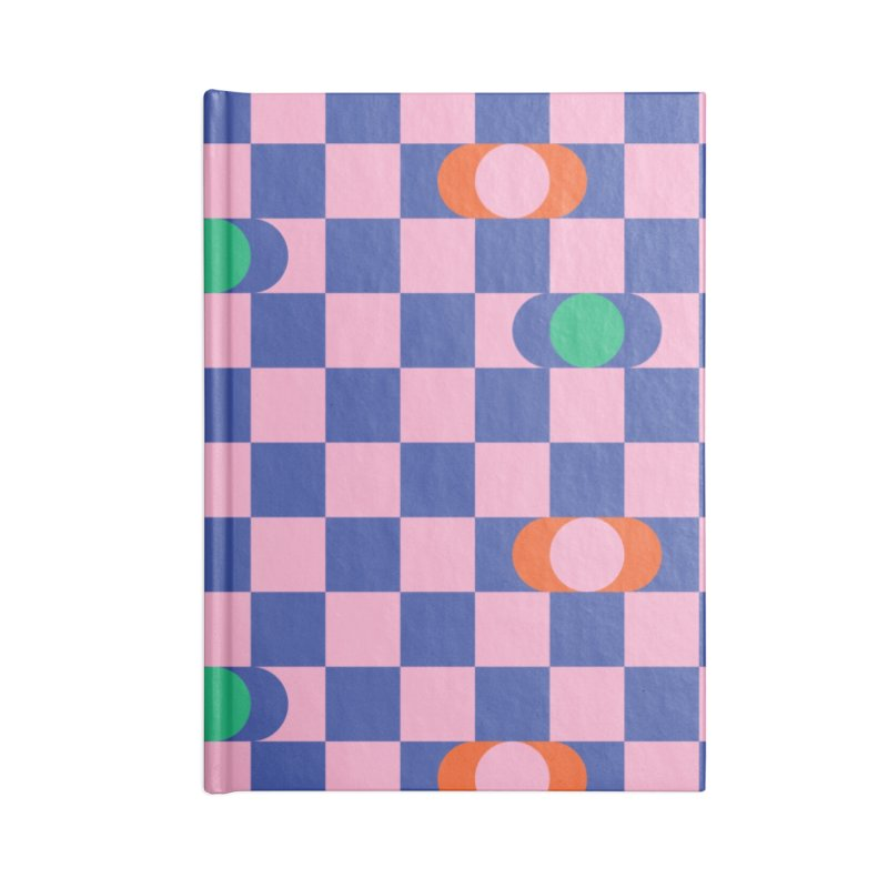 Eclipse Checkerboard Accessories Notebook by Peach Things Artist Shop