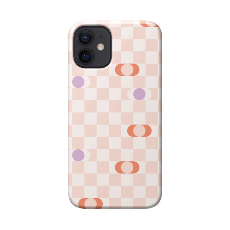 Pastel Eclipse Checkerboard Accessories Phone Case by Peach Things Artist Shop