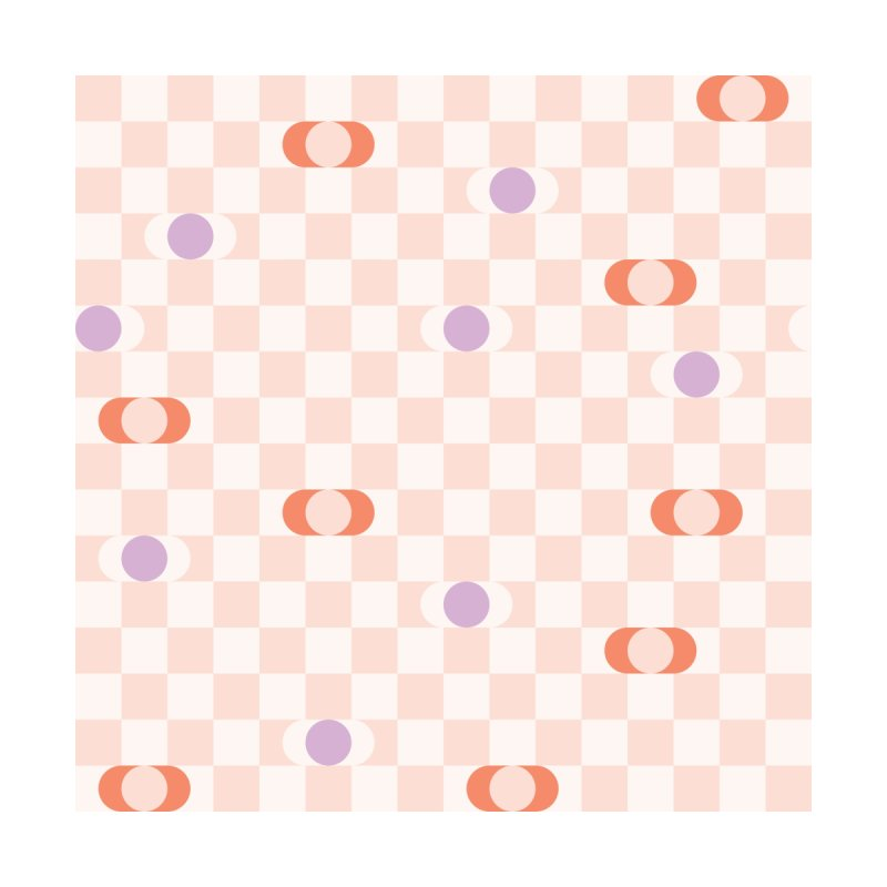 Pastel Eclipse Checkerboard Home Throw Pillow by Peach Things Artist Shop
