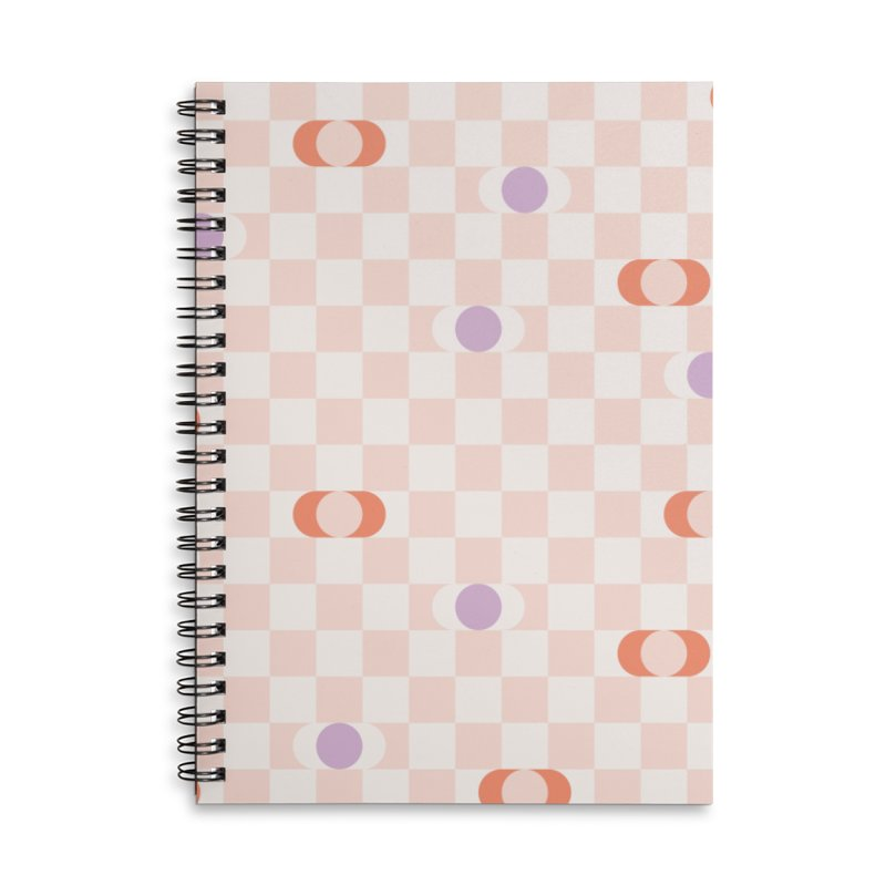 Pastel Eclipse Checkerboard Accessories Notebook by Peach Things Artist Shop