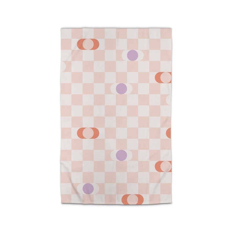 Pastel Eclipse Checkerboard Home Rug by Peach Things Artist Shop