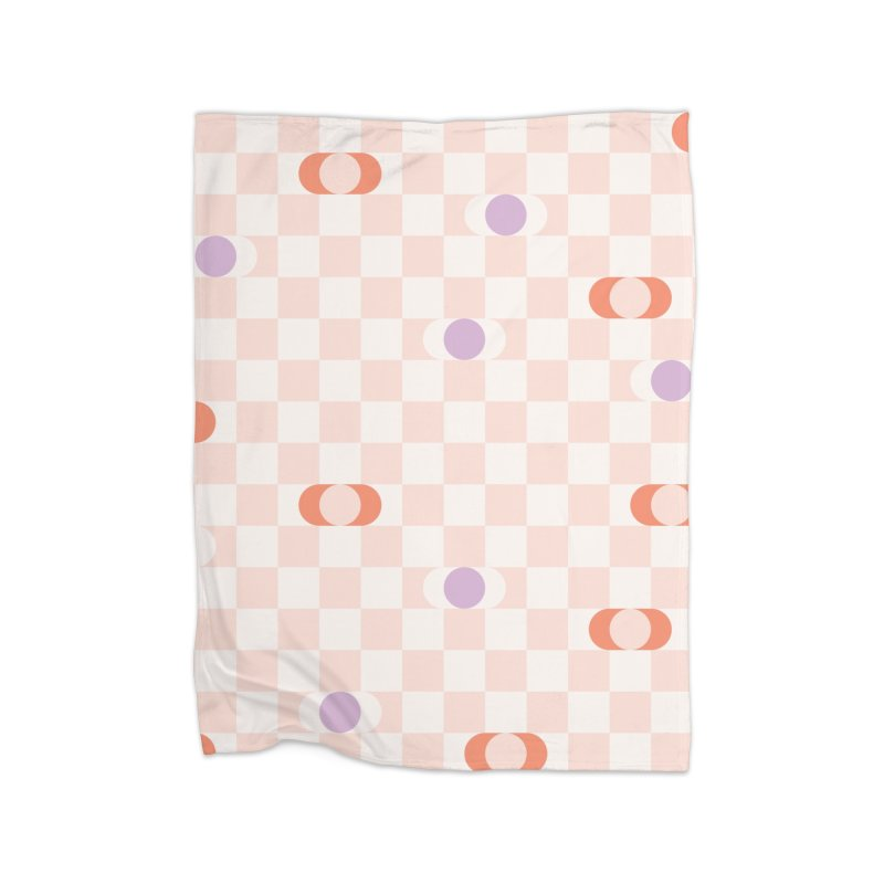 Pastel Eclipse Checkerboard Home Blanket by Peach Things Artist Shop