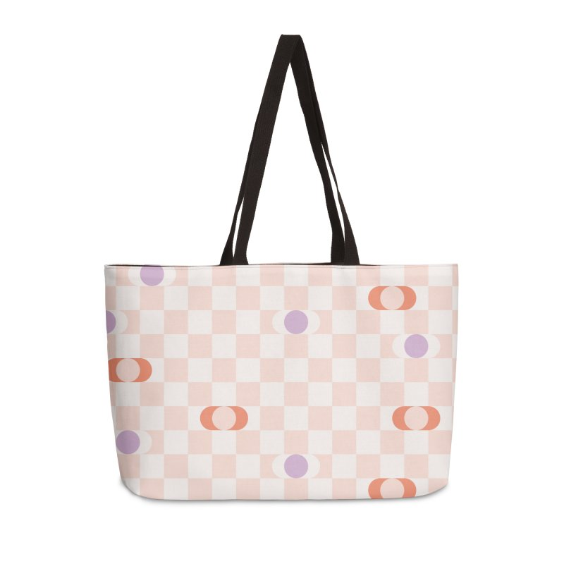 Pastel Eclipse Checkerboard Accessories Bag by Peach Things Artist Shop