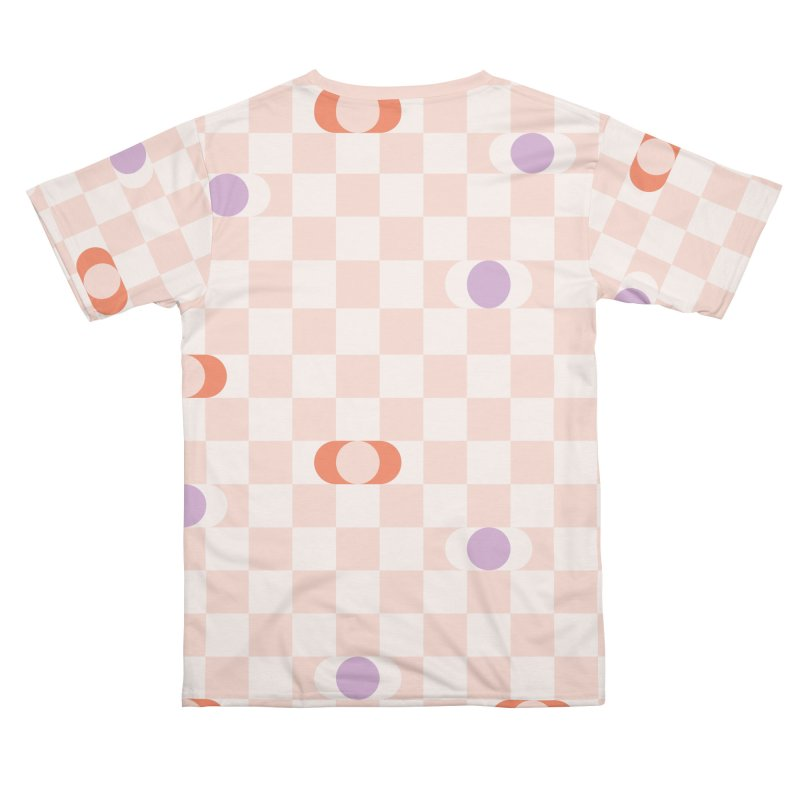 Pastel Eclipse Checkerboard Men's Cut & Sew by Peach Things Artist Shop