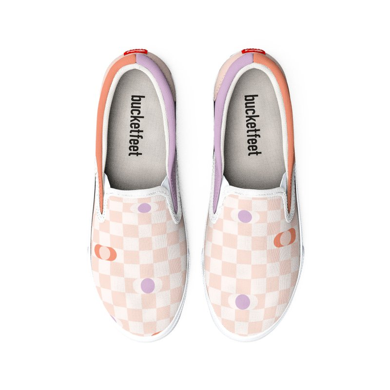 Pastel Eclipse Checkerboard Men's Shoes by Peach Things Artist Shop