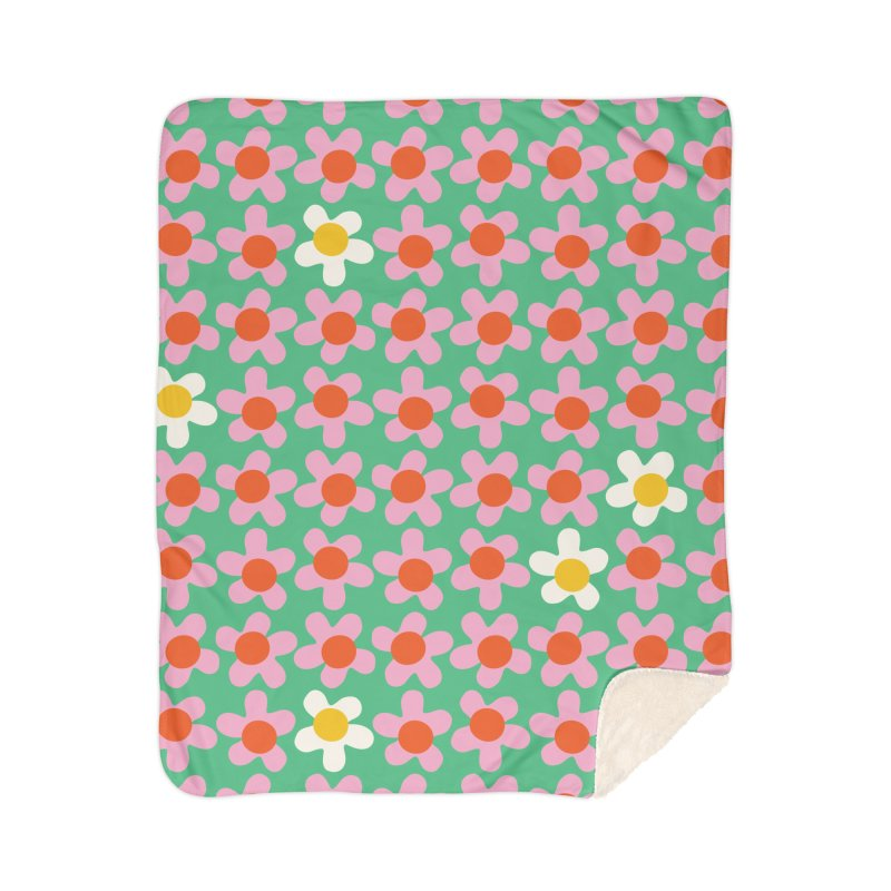 Daizy Field Home Blanket by Peach Things Artist Shop