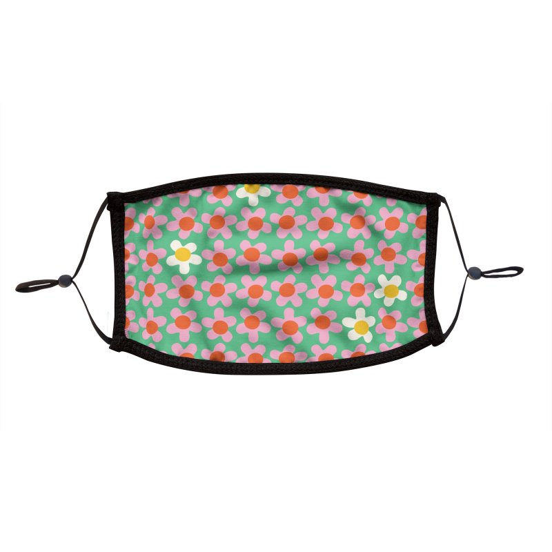 Daizy Field Accessories Face Mask by Peach Things Artist Shop