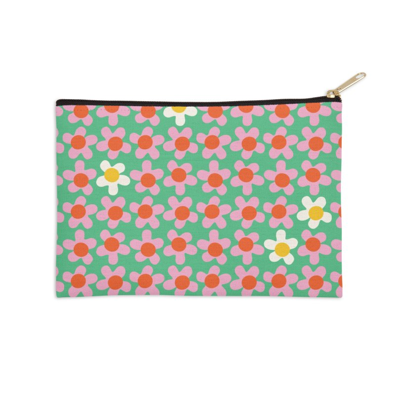 Daizy Field Accessories Zip Pouch by Peach Things Artist Shop