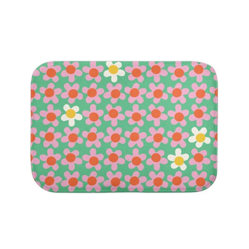 Daizy Field Home Bath Mat by Peach Things Artist Shop