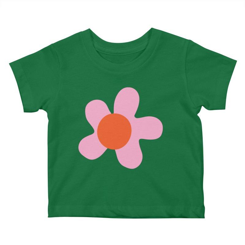 Daizy Field Kids Baby T-Shirt by Peach Things Artist Shop