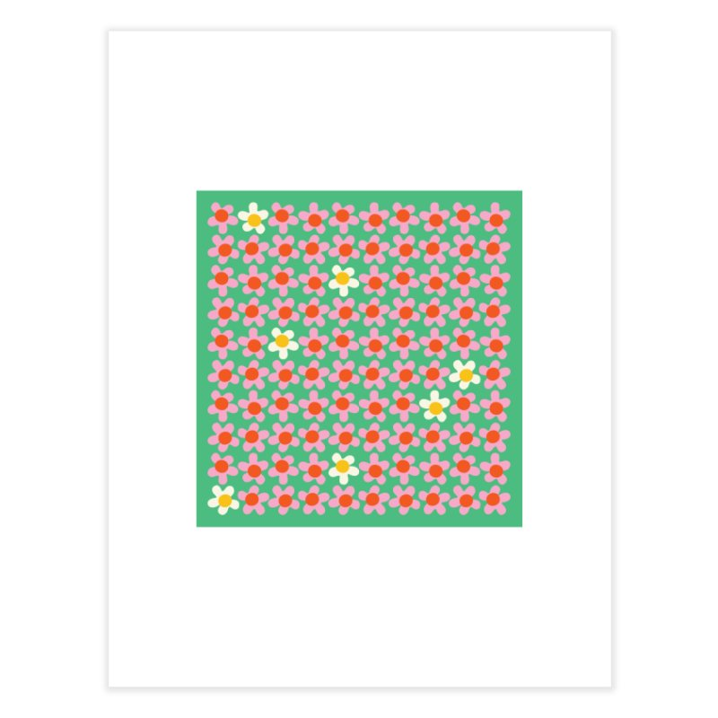 Daizy Field Home Fine Art Print by Peach Things Artist Shop