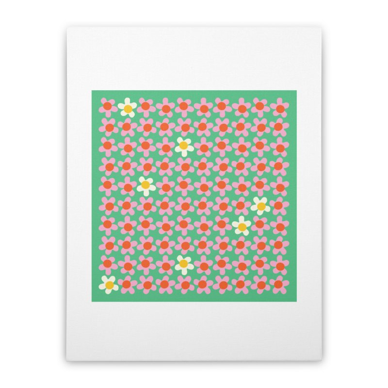 Daizy Field Home Stretched Canvas by Peach Things Artist Shop