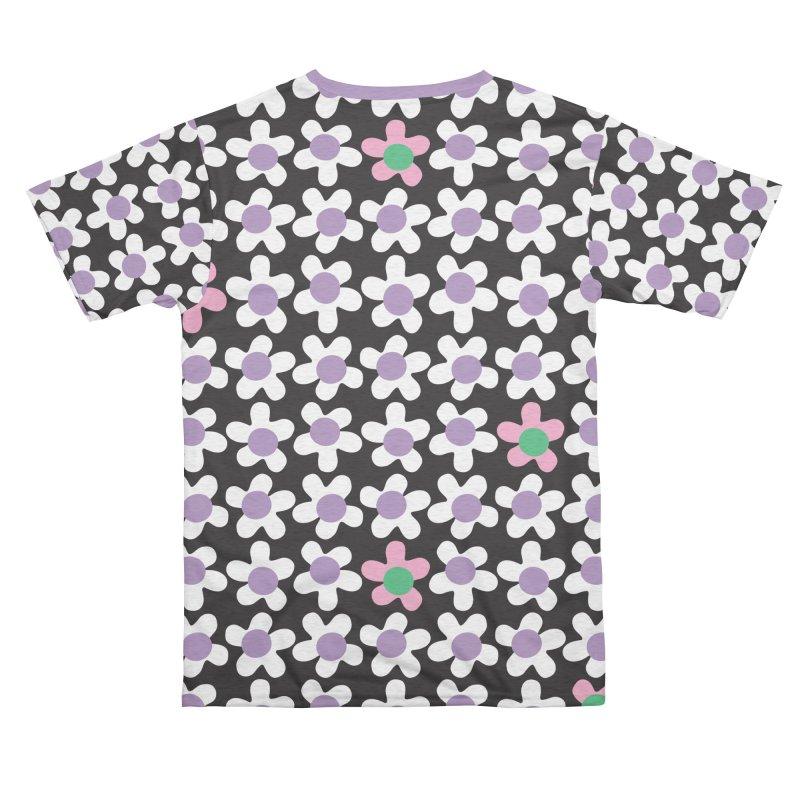 Black & White Daizy Field Men's Cut & Sew by Peach Things Artist Shop