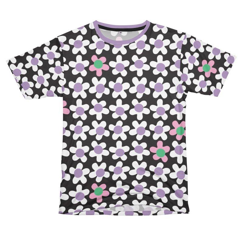 Black & White Daizy Field Women's Cut & Sew by Peach Things Artist Shop