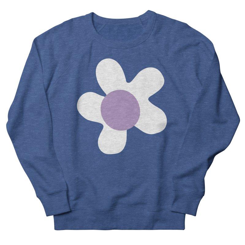 Black & White Daizy Field Men's Sweatshirt by Peach Things Artist Shop