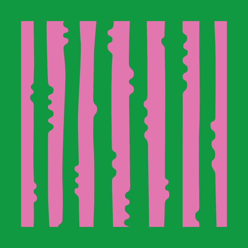 Wiggle Stripe- Pink/Green Home Throw Pillow by Peach Things Artist Shop