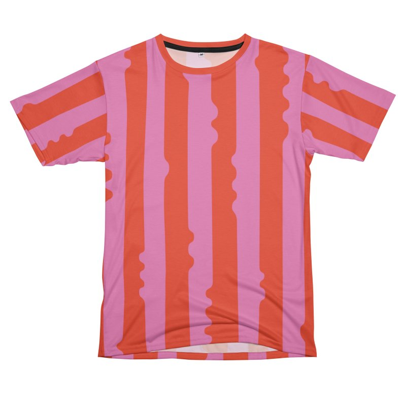 Wiggle Stripe- Pink/Red Men's Cut & Sew by Peach Things Artist Shop
