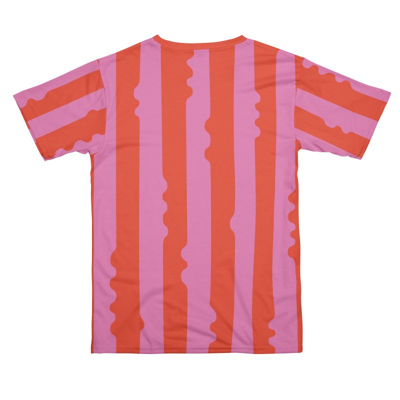 Wiggle Stripe- Pink/Red Women's Cut & Sew by Peach Things Artist Shop