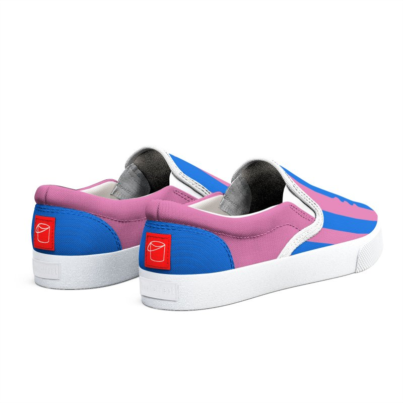 Wiggle Stripe- Pink/Blue Women's Shoes by Peach Things Artist Shop