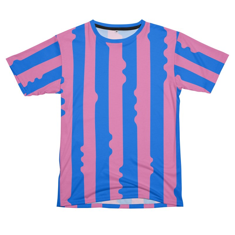 Wiggle Stripe- Pink/Blue Men's Cut & Sew by Peach Things Artist Shop
