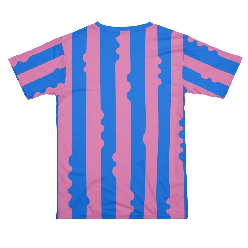 Wiggle Stripe- Pink/Blue Women's Cut & Sew by Peach Things Artist Shop