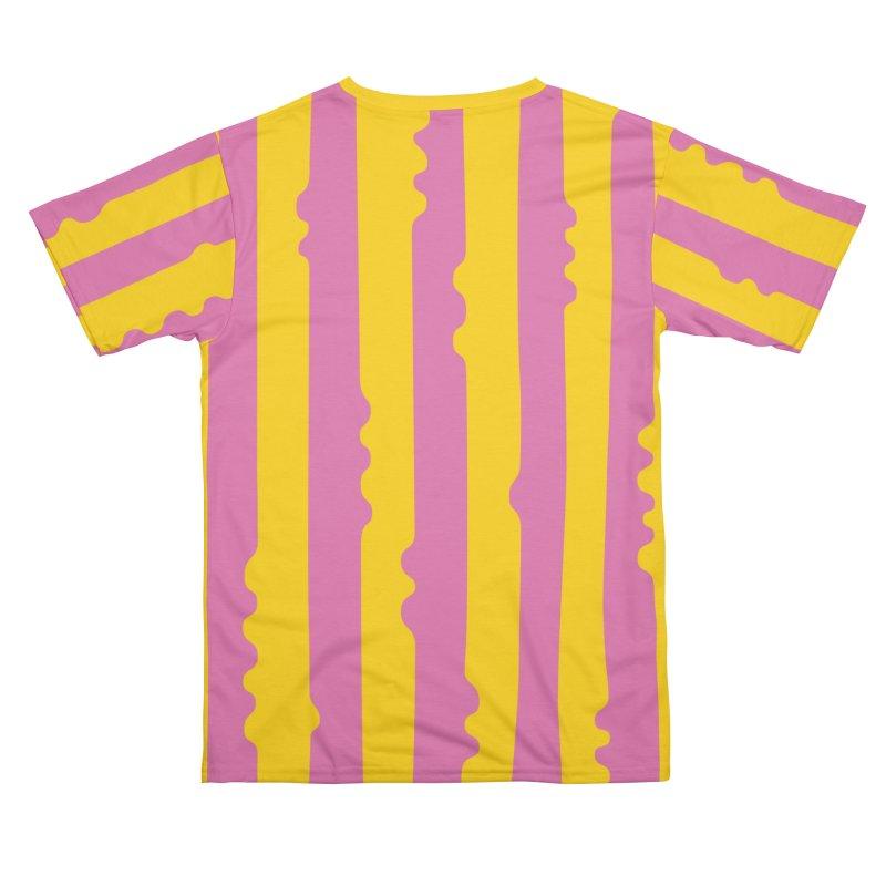 Wiggle Stripe- Yellow Pink Men's Cut & Sew by Peach Things Artist Shop
