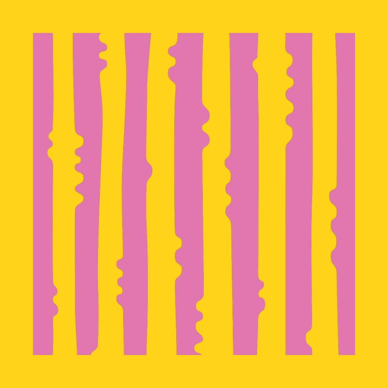 Wiggle Stripe- Yellow Pink Accessories Notebook by Peach Things Artist Shop