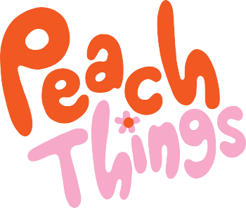Peach Things Artist Shop Logo