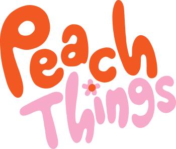 Peach Things Artist Shop Logo