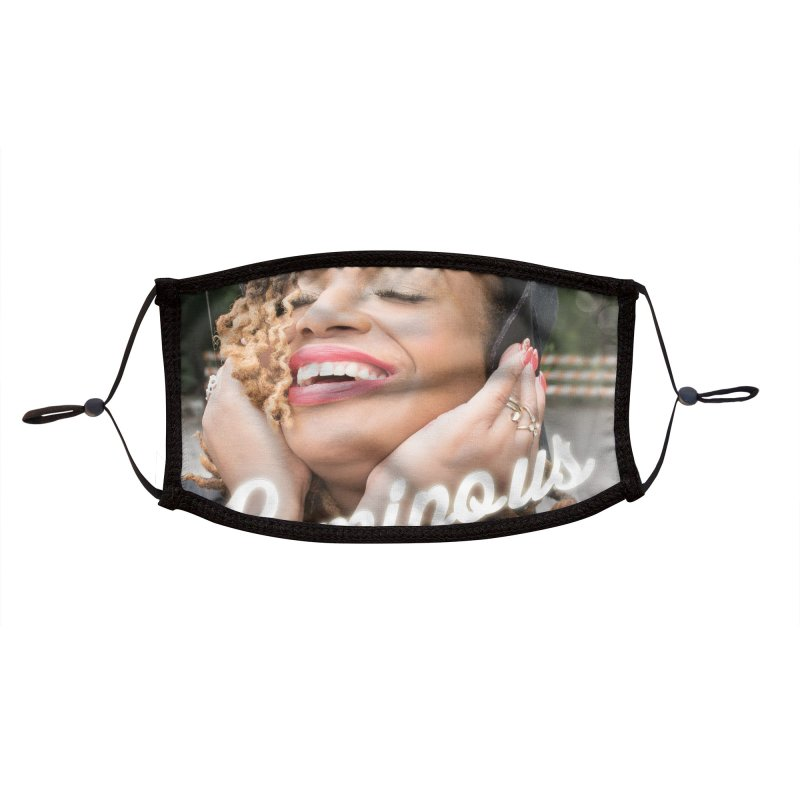 Luminous Single Accessories Face Mask by Pearline B.'s Artist Shop