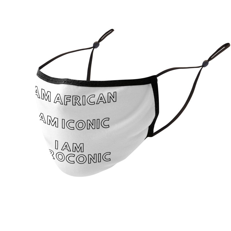 AFROCONIC ( Black Lettering) Accessories Face Mask by Pearline B.'s Artist Shop