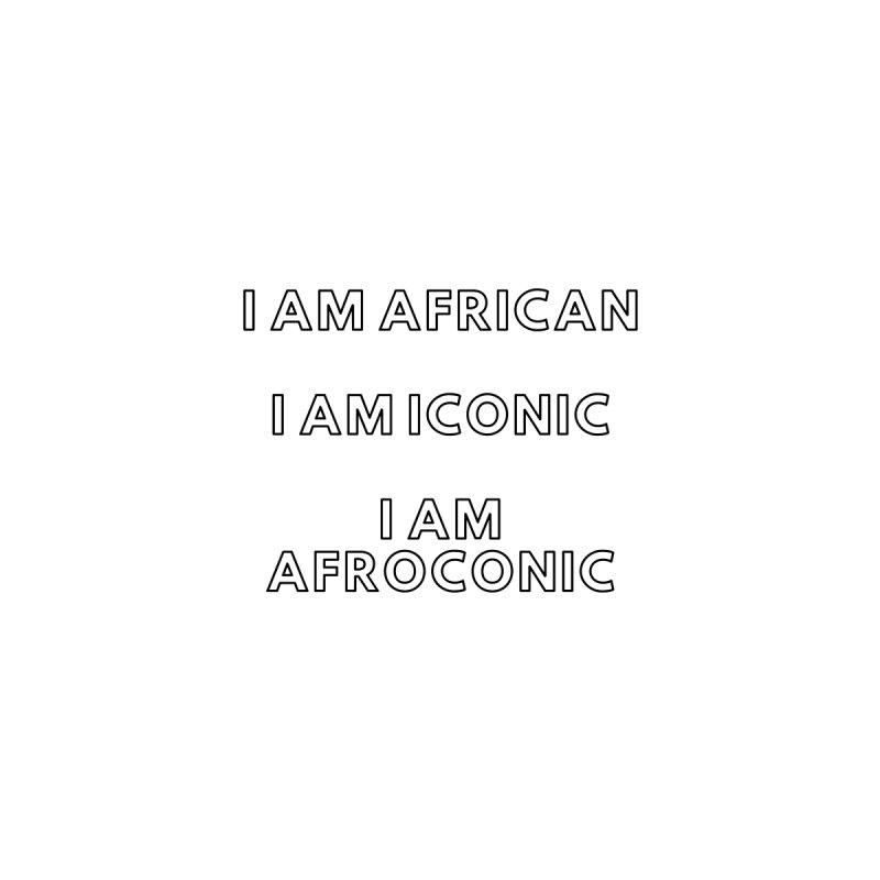 AFROCONIC ( Black Lettering) Home Bath Mat by Pearline B.'s Artist Shop