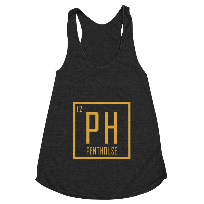 Periodic PH_Gold Women's Racerback Triblend Tank by Penthouse Media's Shop