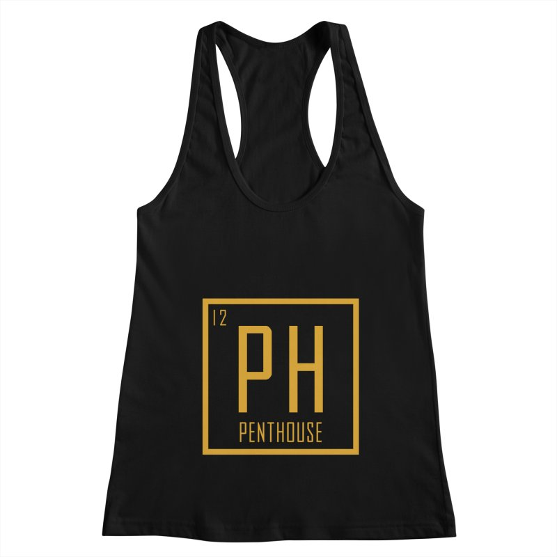 Periodic PH_Gold Women's Racerback Tank by Penthouse Media's Shop