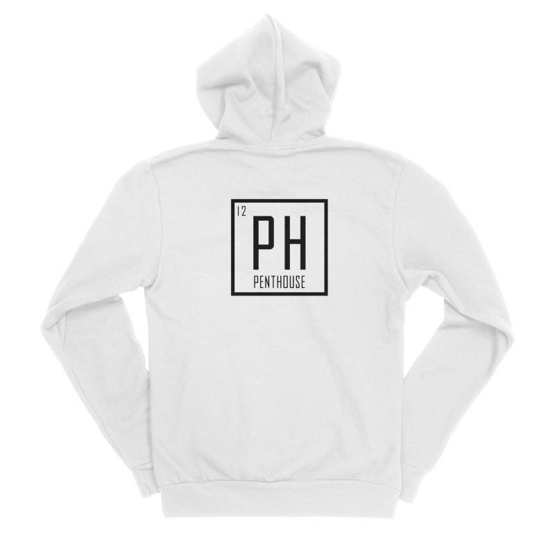 Periodic PH_Black Men's Zip-Up Hoody by Penthouse Media's Shop