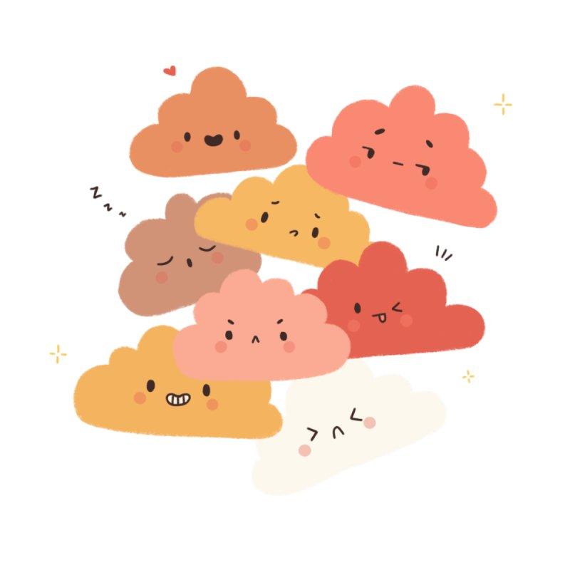 Emotional clouds! Accessories Sticker by Peppermintbtop's Artist Shop
