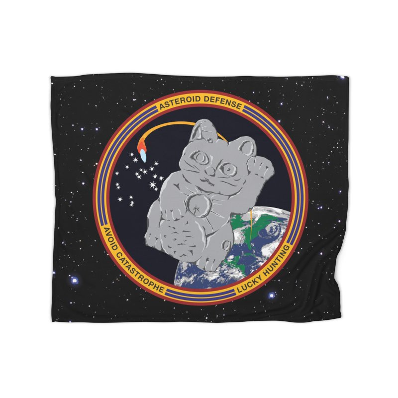 Stay Safe on Asteroid Day Home Fleece Blanket Blanket by Peregrinus Creative