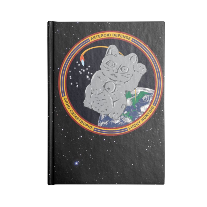 Stay Safe on Asteroid Day Accessories Lined Journal Notebook by Peregrinus Creative